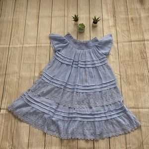 Blue dress with layers